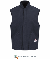 LMS6NV Modacrylic Navy Fleece Vest Jacket Liner