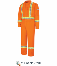 Orange Premium Coverall with CSA Compliant Reflective Trim  - STOCKED IN CANADA