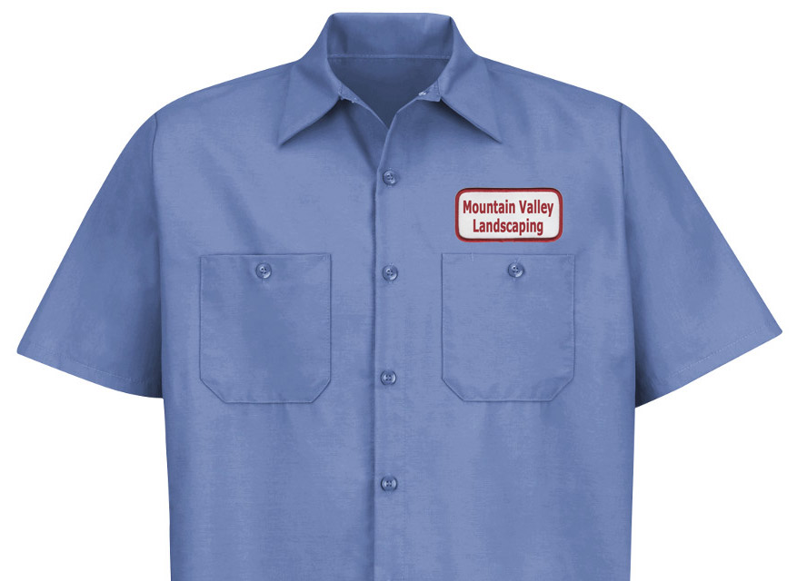 Patches company name basic for Mechanic shirts custom name patch