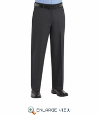 PC44BK Men's Black Plain Front Cotton Casual Pant