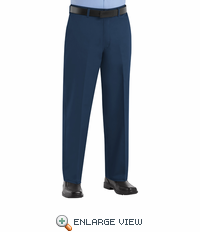 PC44NV Men's Navy Plain Front Cotton Casual Pant