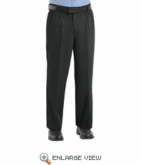 PC46BK Men's Black Pleated Front Cotton Casual Pant