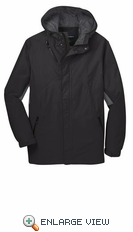 Port Authority® Black Cascade Waterproof Jacket.  J322