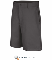 PT26CH Men's Charcoal Plain Front Shorts