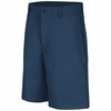 PT26NV Men's Navy Plain Front Shorts