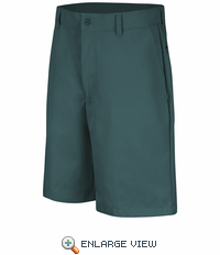 PT26SG Men's Spruce Green Plain Front Shorts