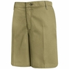 PT27TN Women's Tan Plain Front Shorts