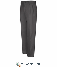 PT32CH Pleated Charcoal Work Pants