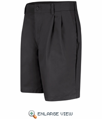 PT34BK Men's Black Pleated Shorts