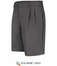 PT34CH Men's Charcoal Pleated Shorts