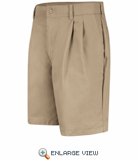 PT34KH Men's Khaki Pleated Shorts