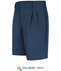PT34NV Men's Navy Pleated Shorts