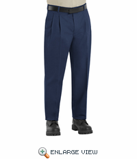 PT38NV Men's Navy Bruched Twill Slacks