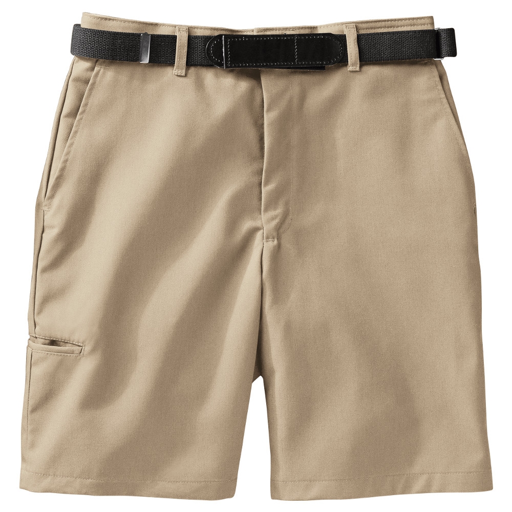 work shorts of all types from cargo, plain front, pleated front and 100%  cotton