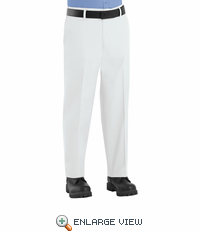 PT60WH Men's  White Side-Elastic Insert Pants