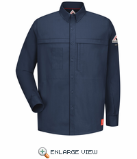 QS20DB iQ Series® Long Sleeve Concealed Pocket Dark Blue Shirt