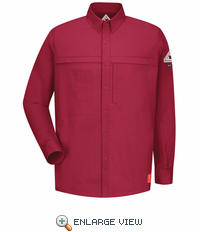 QS20RD iQ Series® Long Sleeve Concealed Pocket Red Shirt