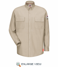 QS30LT iQ Series® Long Sleeve Light Tan Patch Pocket Shirt