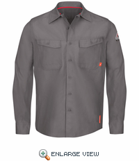 QS40GY iQ Series® Endurance Grey Work Shirt