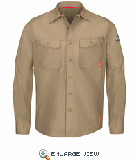 QS40KH iQ Series® Endurance Khaki Work Shirt