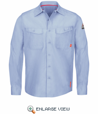 QS40LB iQ Series® Endurance Light Blue Work Shirt