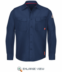 QS40NV iQ Series® Endurance Navy Work Shirt