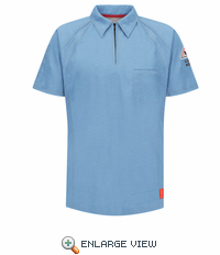 QT10BL iQ Series® Men's Blue Short Sleeve Polo