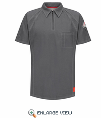 QT10CH iQ Series® Men's Charcoal Short Sleeve Polo