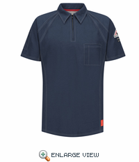 QT10DB iQ Series® Men's Dark Blue Short Sleeve Polo