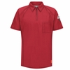 QT10RD iQ Series® Men's Red Short Sleeve Polo