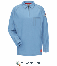 QT12BL iQ Series® Men's Blue Long Sleeve Polo