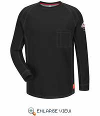 QT32BK iQ Series Black Long Sleeve Tee