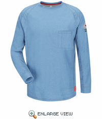 QT32BL iQ Series Blue Long Sleeve Tee