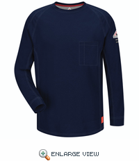 QT32DB iQ Series Dark Blue Long Sleeve Tee
