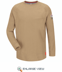 QT32KH iQ Series Khaki Long Sleeve Tee