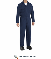 Red Kap CP30NV Navy Long Sleeve Poplin Speedsuit