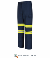 Red Kap PT88EN Enhanced Visibility Industrial Cargo Pants - Navy w/ Reflective Trim