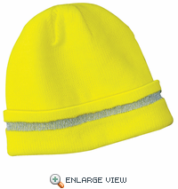 Safety Beanie with Reflective Stripe. CS800.