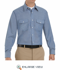 SC14 Long Sleeve Light Blue Western Style Uniform Shirt