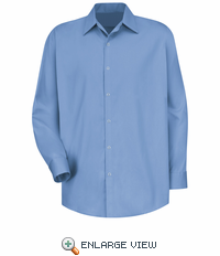 SC16LB Long Sleeve Light Blue Pocketless Gripper 100% Cotton Shirt