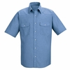 SC24LB Short Sleeve Light Blue Western Style Uniform Shirt