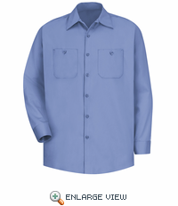 SC30LB Long Sleeve Light Blue Wrinkle Resistant Cotton Shirt