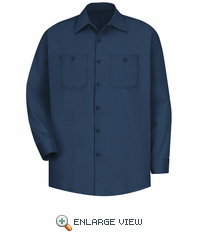 SC30NV Long Sleeve Navy Wrinkle Resistant Cotton Shirt