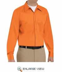 SC30OR Long Sleeve Orange Wrinkle Resistant Cotton Shirt