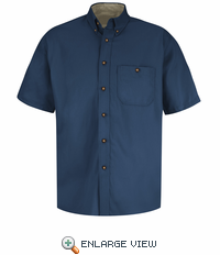 SC64 Short Sleeve Cotton Twill Casual Contrast Shirt (2 Colors)