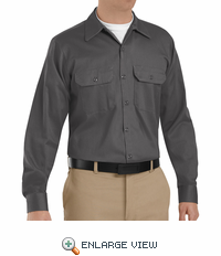 SC70CH Long Sleeve Charcoal Heavyweight Cotton Twill Workshirt