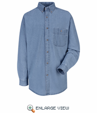 SD10MS Men's Stone Long Sleeve Denim Shirt