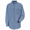 SD10MS Men's Wrangler Long Sleeve Stone Denim Shirt