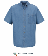 SD20 Men's Short Sleeve Denim Shirt
