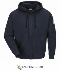 SEH4 Zip-Front Hooded Sweatshirt - Cotton/Spandex Blend